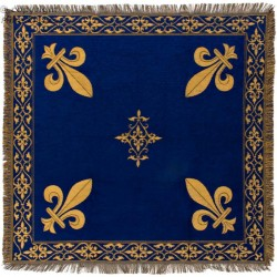 Nappe ou plaid bleu fleur...
