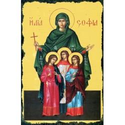 Carte postale Icône Sainte...
