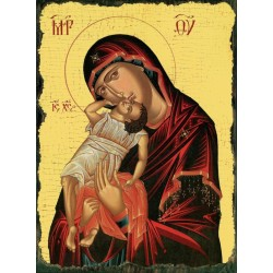 Carte postale Icône Vierge...