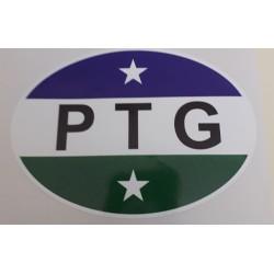 Autocollant drapeau Patagonie