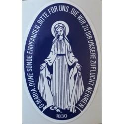 Aufkleber Heilige Jungfrau...