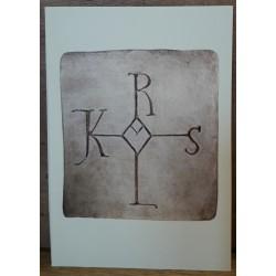 Carte postale Monogramme de...